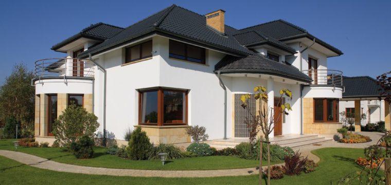 Galeria: Dom okładany piaskowcem