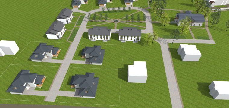 Galeria: Założenie urbanistyczne wokół dworku zXIX w.