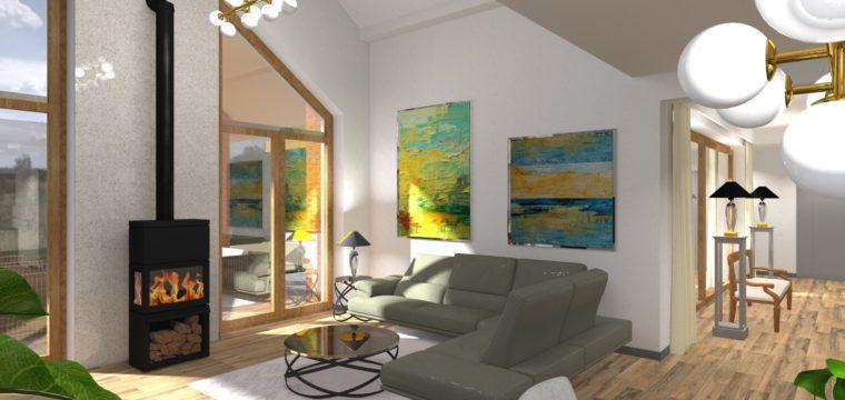 Galeria: Wnętrza domu jednorodzinnego wokolicach Sieradza